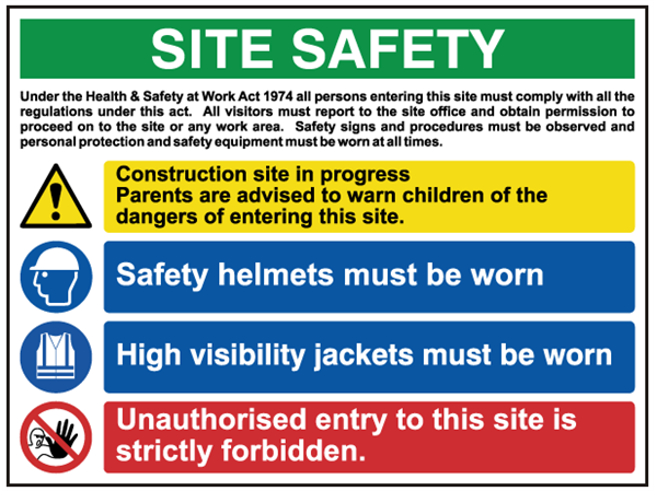 building site safety notice sign 1