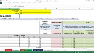 Project Cost Estimate and Budge Template Free Download