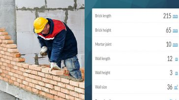 Brick Calculator for Masonry Construction Works